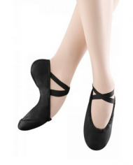 Bloch Pump Ladies Canvas Black Split Sole Ballet Shoe