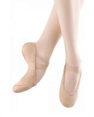 Bloch Pump Ladies Canvas White Split Sole Ballet Shoe