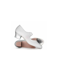 Katz White Cuban Heel Tap Shoe
