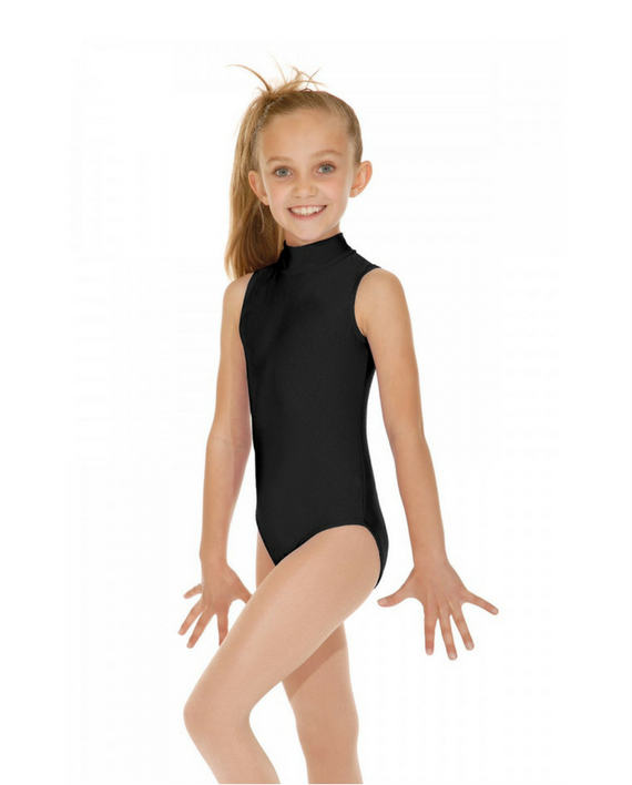 Roch Valley 2017 Girls Sleeveless Nylon Lycra Turtle Necked Leotard With Keyhole Back Instep Dancewear
