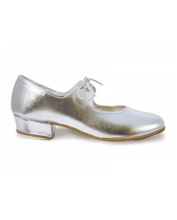 b776e4f6e91 Roch Valley Low Heel Girls Synthetic Leather Silver Tap Shoes ...