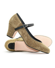 Katz Showtime 2 Inch Heel Ladies Gold Glitter Character Shoes