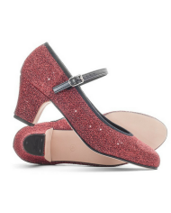 Katz Showtime 2 Inch Heel Ladies Red Glitter Character Shoes