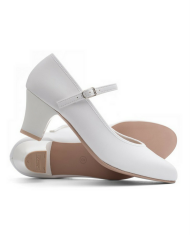 Katz Showtime 2 Inch Heel Ladies White Leather Character Shoes