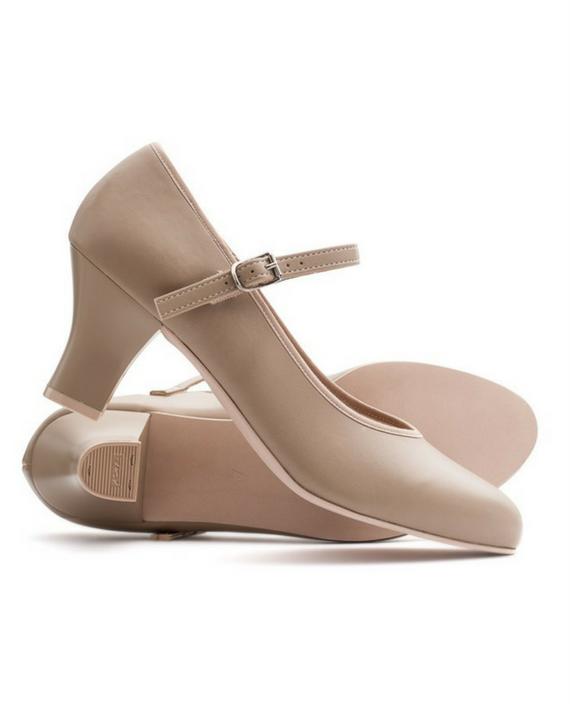 Tan Character Shoes   Inch Heel